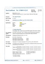 L2内袋適合試験証明書
